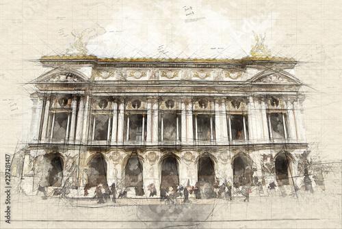 Fotografia Opera Garnier in Paris