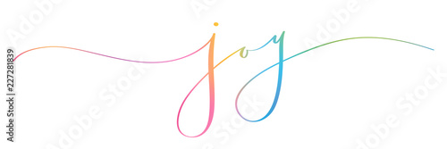 Fotografie, Tablou  JOY brush calligraphy banner