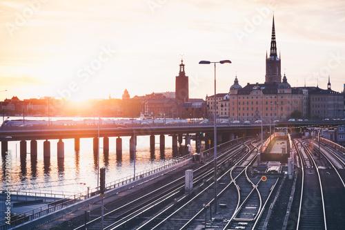 Cityscape of Stockholm with bridges
