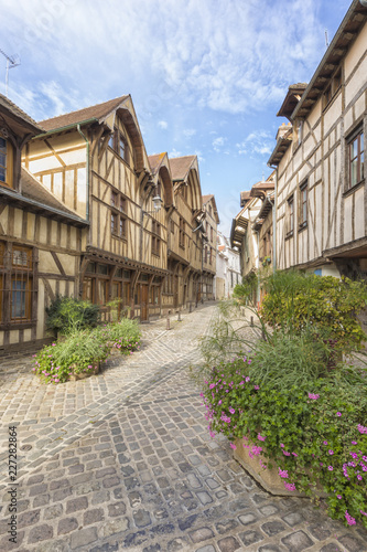 Foto op Canvas Europa Half-timbered houses at the old town of Troyes, France