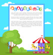 Playground Park Poster Text Vector Illustration