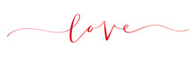 LOVE Brush Calligraphy Banner
