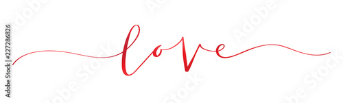 LOVE brush calligraphy banner Canvas Print