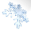 canvas print picture - snowflake on white background. Isolated 3D illustration