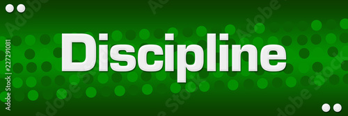 Discipline Green Dots Background