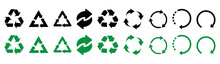 Recycle Icons. Set Of Black An...