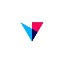 V Letter Overlapping Logo Vect...