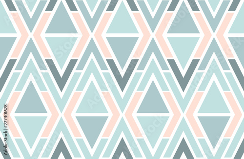 Fotografie, Tablou Geometric vector triangles seamless pattern