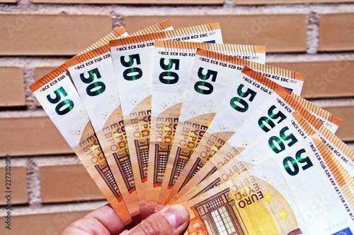 Fotografía  Billetes de 50 euros.