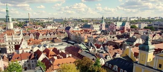 Piękna poznańska starówka, zabytkowe centrum stolicy Wielkopolski, Poznania