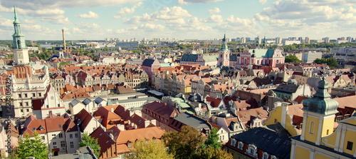 Fototapeta Piękna poznańska starówka, zabytkowe centrum stolicy Wielkopolski, Poznania