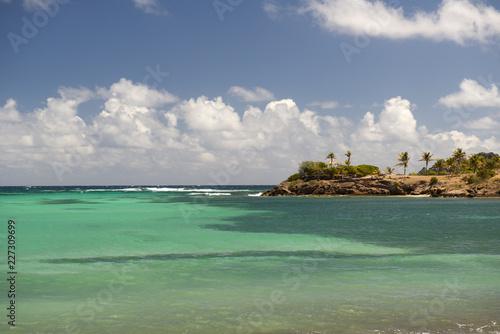 Spoed Foto op Canvas Eiland St. Barth island, Caribbean sea