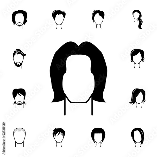 male hairstyle icon. Detailed set of hairstyles at the hairdresser ...