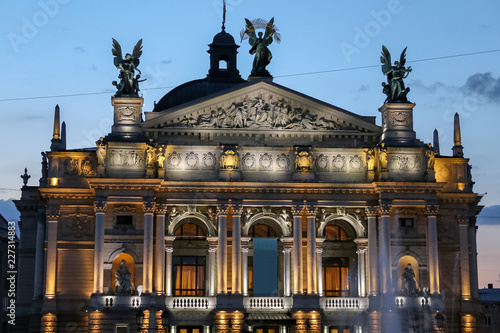 Staande foto Theater Lviv Opera House in Ukraine