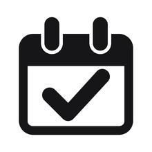 Calendar Check Mark Icon