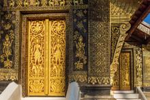 Exterior Details Of The Wat Xieng Thong Temple, Luang Prabang, Laos