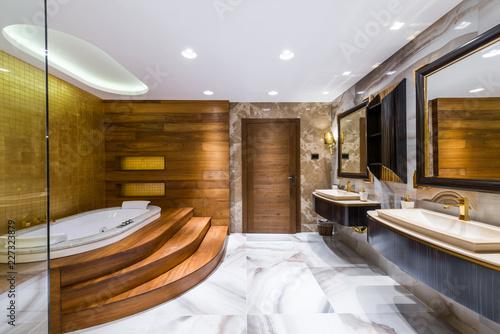 Cozy and comfortable bathroom in luxury interior