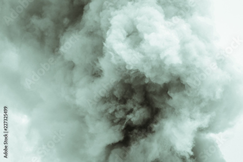 Fotografering  Abstract smoke on white background,Bomb smoke background.