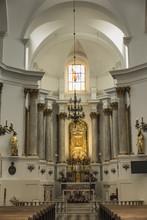 Chelm, POLAND - September 10, 2016: Inside The Shrine, The Basilica Of Virgin Mary In Chelm In Eastern Poland