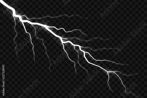 Valokuva  Lightning electric thunder storm