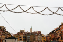Christmas Market In Warsaw Old Town Market Square