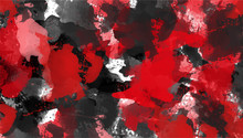 Red And Black Abstract Background. Ink Spots Grunge Textures. Vector Illustration.