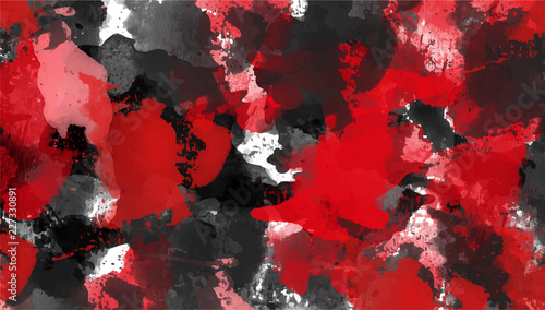 Obrazy one color   red-and-black-abstract-background-ink-spots-grunge-textures-vector-illustration