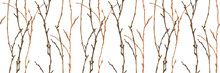 Winter Forest Watercolor Seamless Pattern