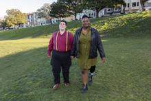 Couple Walking In San Francisco