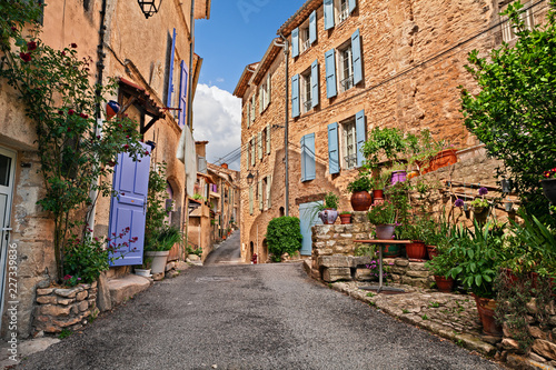 Vászonkép Mane, Forcalquier, Provence, France: ancient alley in the old town