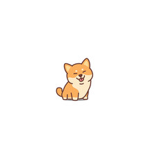 Cute Shiba Inu Dog Cartoon Ico...