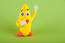 Funny Clay Banana Figure With ...