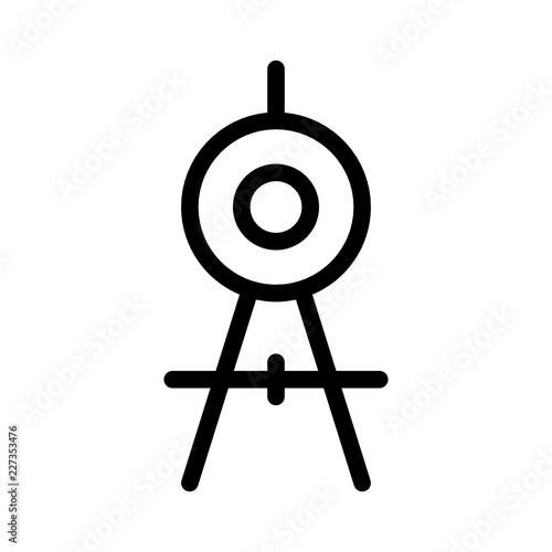 Compass Circle Business Stationary Office Desk Vector Icon Buy