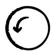 Corner Left Arrow Direction Move Arrows7 vector icon