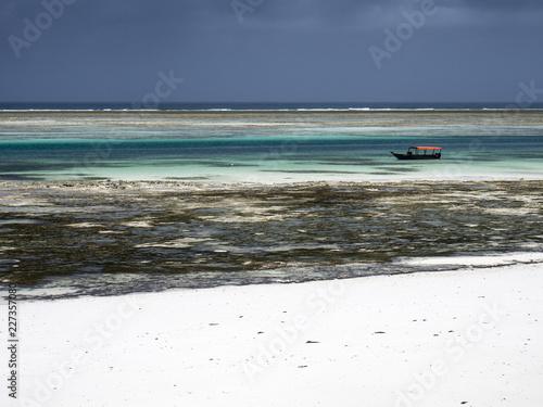 Strand bei Ebbe, Pingwe, Indischer Ozean, Ostküste, Sansibar