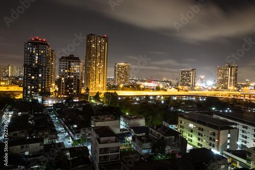 Staande foto Las Vegas City Bangkok night