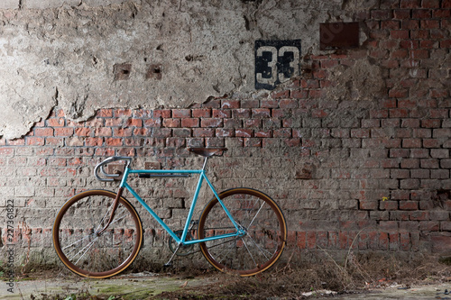 vintage bicycle wall