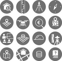 Icon Set Vermessung/Survey