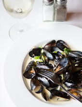 Plate Of Mussels A La Provence.