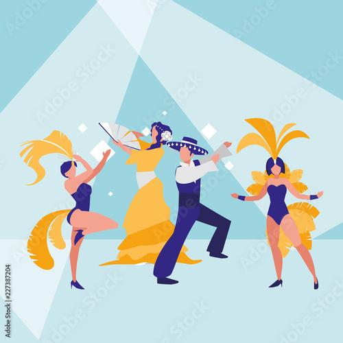 carnival dancers design