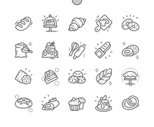 Bakery Well-crafted Pixel Perfect Vector Thin Line Icons 30 2x Grid For Web Graphics And Apps. Simple Minimal Pictogram
