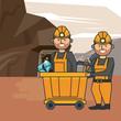 Mining workers cartoons