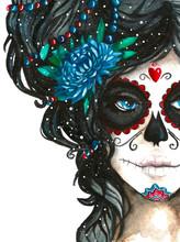 Mexican Catrina Scull Illustra...