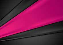 Black And Pink Abstract Stripes Corporate Background