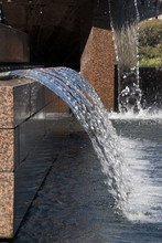 Sydney Australia, Close-up Of Falling Water In A Public Fountain