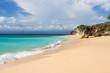 Beautiful Dreamland Beach Bali, with clean sand and rocks.