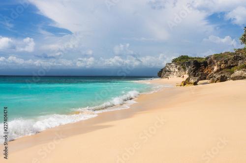 Beautiful  Dreamland Beach Bali, with clean sand and rocks. Canvas Print