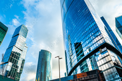 Spoed Foto op Canvas Stad gebouw Skyscrapers of Moscow city - Moscow International business center in Russia