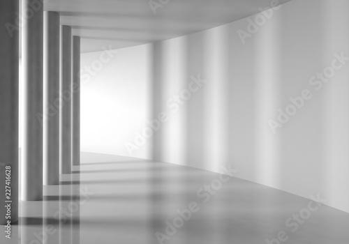 Foto architecture contemporaine colonnes 3D