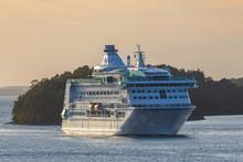 Cruise Liner Leaving Stockholm...